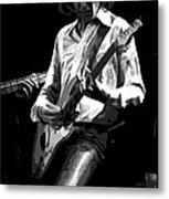 Mick 1977 Art Bw Metal Print