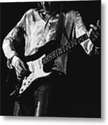 Mick Playing Rock Guitar In 1977 Metal Print