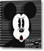 Mickey Mouse Disney Mug Shot Metal Print by Tony Rubino