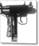Micro Uzi X Ray Photograph Metal Print