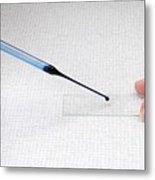 Microscope Slide Preparation Metal Print