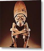 Mictlantecuhtli Lord Of Mictlan Remojadas Style, From Los Cerros, Tierra Blanca, Vera Cruz Pottery Metal Print