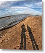 Mid Dec Day At The Beach...who Can Argue At Presque Isle State Park Series Metal Print