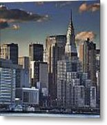 Mid Manhattan In Hdr Metal Print
