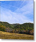 Mid-morning Panorama At Cades Cove Metal Print