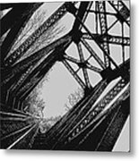Mid Span  In Black And White Metal Print