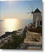 Midday On Santorini Metal Print