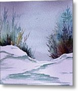 Midday Winter In Maine Metal Print