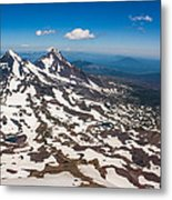 Middle And North Sister Metal Print