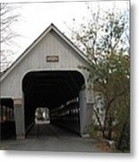 Middle Bridge Back Woodstock Vermont Metal Print