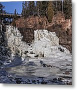 Middle Falls In Winter Metal Print