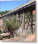 Midgley Bridge And Oak Creek Canyon  Metal Print