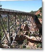 Midgley Bridge Over Oak Creek Canyon Metal Print