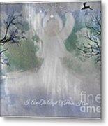 Midnight Angel Of Peace Metal Print by Sherri  Of Palm Springs