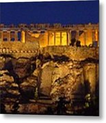 Midnight At The Acopolis Metal Print