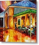 Midnight At The Cafe Du Monde Metal Print