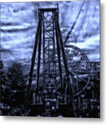 Midnight At The Carnival Metal Print