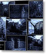 Midnight At The Prison Collage Metal Print