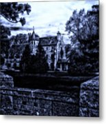 Midnight At The Prison Metal Print