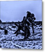 Midnight Battle Stay Close Metal Print by Thomas Woolworth