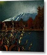 Midnight Blue In The Mountains Metal Print