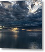 Midnight Clouds Over The Water Metal Print