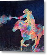 Midnight Cowgirls Ride Heaven Help The Fool Who Did Her Wrong Metal Print