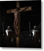 Midnight Crucifixion Metal Print