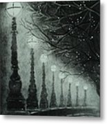 Midnight Dreary Metal Print by Carla Carson