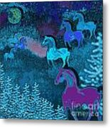 Midnight Horses Metal Print