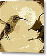 Midnight Hummingbird Metal Print