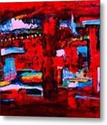 Midnight In The City Metal Print