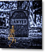 Midnight In The Graveyard With A Lawyer Metal Print