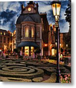 Midnight In The Labyrinth Garden  Metal Print by Lee Dos Santos