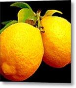 Midnight Lemons Metal Print