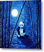 Midnight Lullaby In A Bamboo Forest Metal Print