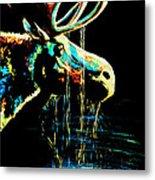 Midnight Moose Drool  Metal Print by Teshia Art