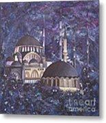 Midnight Mosque Metal Print