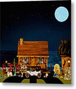 Midnight Near The Sea In Color Metal Print