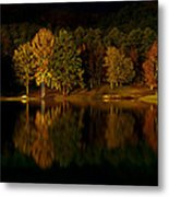 Midnight On The Lake Metal Print