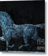 Midnight Run - Weathervane Metal Print