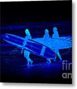 Midnight Surfers Metal Print