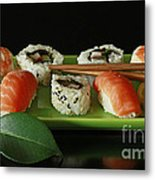 Midnight Sushi Indulgence Metal Print