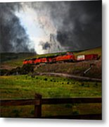 Midnight Train - 5d21043 Metal Print by Wingsdomain Art and Photography