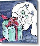 Midnight Under The Christmas Tree Metal Print