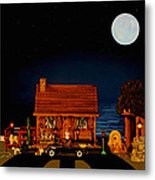 Log Cabin With 1938 Mercedes Benz 770k Pullman Convertible In Color Metal Print