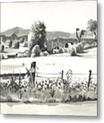 Midsummer View Out Route Jj   No I101 Metal Print