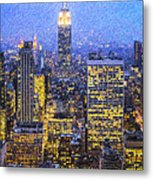 Midtown Manhattan And Empire State Building Metal Print