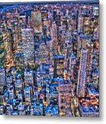 Midtown Manhattan Skyline Metal Print
