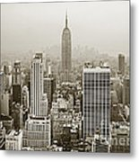 Midtown Manhattan With Empire State Building Metal Print